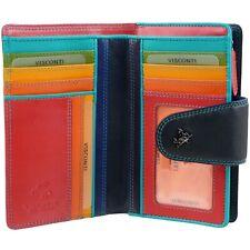 Ladies Soft Leather Purse Wallet by Visconti Designer Spectrum Boxed