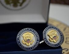 AUTHENTIC WHITE HOUSE PRESIDENTIAL SEAL AND COLOR SHIELD CUFFLINKS~W-H ISSUE!