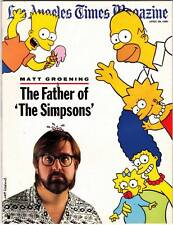 Matt Groening SIMPSONS interview in LOS ANGELES TIMES MAGAZINE April 29, 1990.