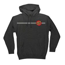 Santa Cruz CLASSIC DOT PULLOVER Skateboard Hoodie CHARCOAL HEATHER XL