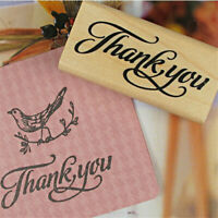 Thank You Wood Stamps DIY Scrapbooking Thank You Wooden Rubber Stamp Craft AU