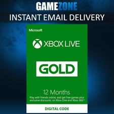 Xbox LIVE 12 Month Gold Membership For Microsoft Xbox One / Xbox 360 - WORLDWIDE