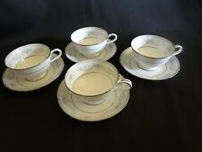 Noritake China - #6107 - Colburn - Set of 4 Cups and Saucers