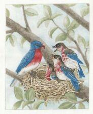 Vignette de Tissu 12x15 cm Merlebleu de l'Ouest Piece of Cotton Fabric Bluebird
