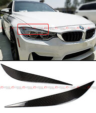 FOR 2012-2017 BMW F32 F33 F36 CARBON FIBER HEADLIGHT EYE LID COVER PAIR EYEBROWS