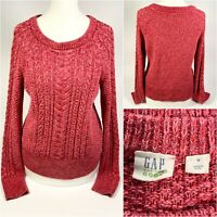 Gap Cable Knit Jumper in Pink - Size Small Women's - Sweater Warm & Thick