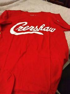 the marathon clothing t shirt. red/ white crenshaw, small