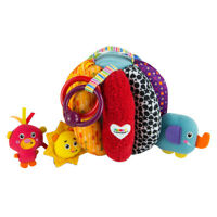 LC27150 Lamaze Grab & Hide Ball Sensory Rattle Soft Texture Toy Baby Infants 6m+