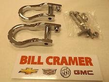 84072462 Chevrolet Silverado 1500 GMC Sierra 1500 Chrome Recovery Tow Hooks NEW
