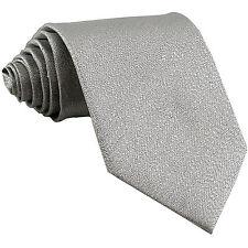 New polyester formal striped men's neck tie necktie Glitter Silver wedding prom