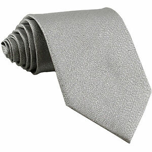New polyester formal striped men's neck tie necktie Glitter Silver wedding prom
