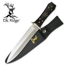 "Elk Ridge Outdoor Fixed Blade Knife Hunter 13"" Black Double Edge Dagger 105"