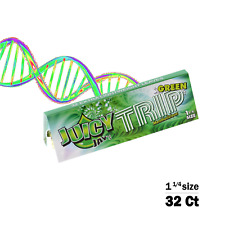 Juicy Jay's Green Trip Flavored 1 1/4 Size Rolling Papers 32ct, Raw, Elements