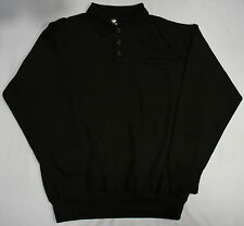 Mens Sweatshirt Sweat Shirt Shirts Top Plain Jumper Collar Polo Plain Pocket