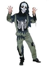 Kids Zombie Skeleton Boys Halloween Fancy Dress Horror Graveyard Costume 3-13yrs