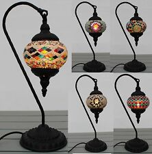 Turkish Lamp Swan Styles Hand Made Moroccan Table Mosaic Colourful Glass