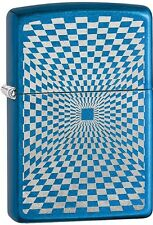 Zippo Minimalism Design Cerulean Blue WindProof Lighter NEW 29427