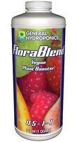 General Hydroponics FloraBlend 1 Quart qt 32oz - flora blend vegan tea compost