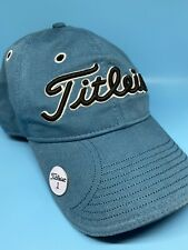 Titleist Adult With Magnetic Golf Ball Marker Baseball Cap Hat Blue/Black New