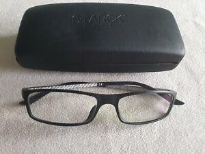 Starck black Carbon Biozero glasses frames. SH1015Y. With case.