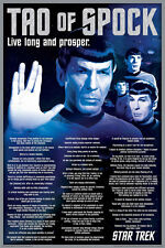 24x36 STAR TREK TAO OF SPOCK SAYINGS POSTER rolled and shrink wrapped