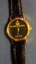 SmithKlein Beecham MCCS ladies quartz genuine leather gold tone quartz watch