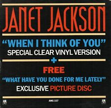 """Janet Jackson - When I Think Of You  (7"""" Single 1986) Clear Vinyl + Picture Disc"""