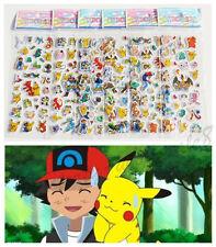 6Sheets Stickers lot Puffy Japan Anime Pokemon Pikachu Pocket Monster kids favor