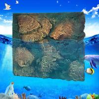 60x50cm 3D Stone Aquarium Background Fish Tank Backdrop Reptile Boards Decor G