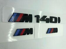 M140i Boot + 2 Wing Badges GENUINE High Gloss Black F52 E88 F20 F40 M SPORT
