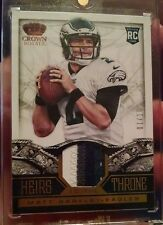 2013 Panini Crown Royale Heirs to the Throne 4 Color patch Matt Barkley #1/10 b3