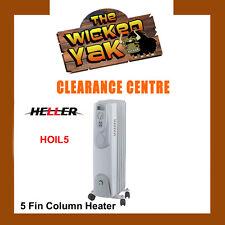 Heller 1000Watt 5 Fin Oil Heater with 3 Heat Settings HOIL5 FREE SHIPPING NEW