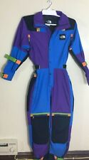 The North Face Vtg purple blue Ski Suit Expedition Padded Tonar M Supreme Block
