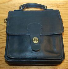 Vintage Coach Square Purse Bag Cross Body Leather Black