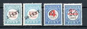 NETHERLANDS , 1906 - 1910 , FOUR better / scarce POSTAGE DUES , MH