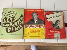 Three vintage 1950-1962 American Jewish Humor hardcover books with dust jackets