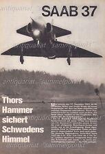 Saab 37 Viggen Kampfflugzeug - Original Bericht von 1968