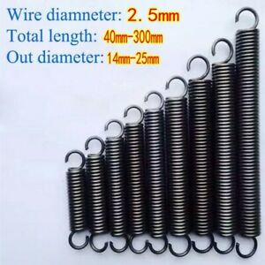 Wire Dia 2.5mm Extension Springs with hook Expanding Tension Spring L 40~300mm