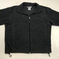 Columbia Men's Full Zip Front Dark Gray Fleece Jacket Size XL - Pockets