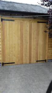 Hardwood Garage Doors SIBERIAN LARCH (H1980mm x W2130mm) MADE TO MEASURE