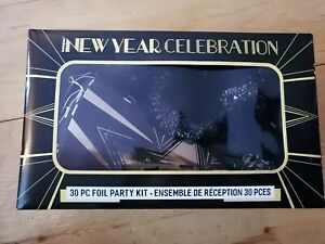 30 Piece Happy New Year Celebration Party Kit Box For 10 People - New In Box