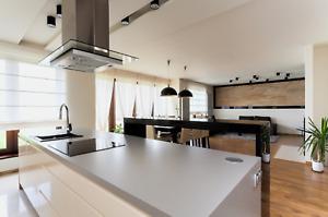 Compac quartz plomo grey designer kitchen worktops mirrored sparkle nationwide