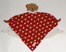 KÄTHE KRUSE ein roter Bär Schmusetuch Schnuffeltuch Kuscheltuch Breite : 42 cm *