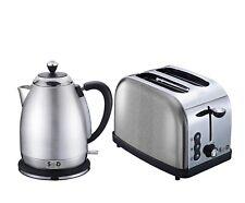 Modern Silver Diamond Sparkle 1.8L Electric Kettle 2 Slice Toaster Breakfast Set