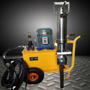 Hydraulic Rock Splitter Cropper Stone Concrete Hammer Machine+Hydraulic Pump New