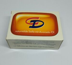 naturmilde Seife CD mit Avocado-Öl Neu 100 g Vintage alt Glycerinseife