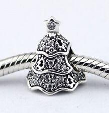 TWINKLING CRYSTAL TREE .925 Sterling Silver European Charm Bead T3