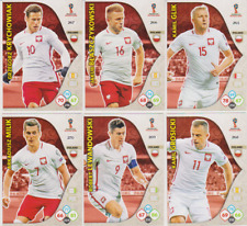 Panini Adrenalyn XL World Cup Russia 2018 Lot 6 cartes équipe POLOGNE