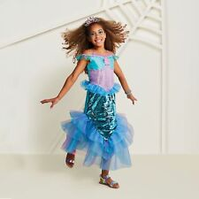 Hyde and Eek! Boutique Girls  2-Sided Sequin Mermaid Halloween Costume Large 4/6