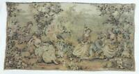 """Antique French Tapestry Jacquard Woven Vintage Tapestry 36"""" Long"""